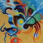 Abstract, 2012, Olieverf op doek, 50X40 cm